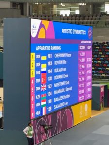 5th place for Mostowfi in Floor Final at European Games!!