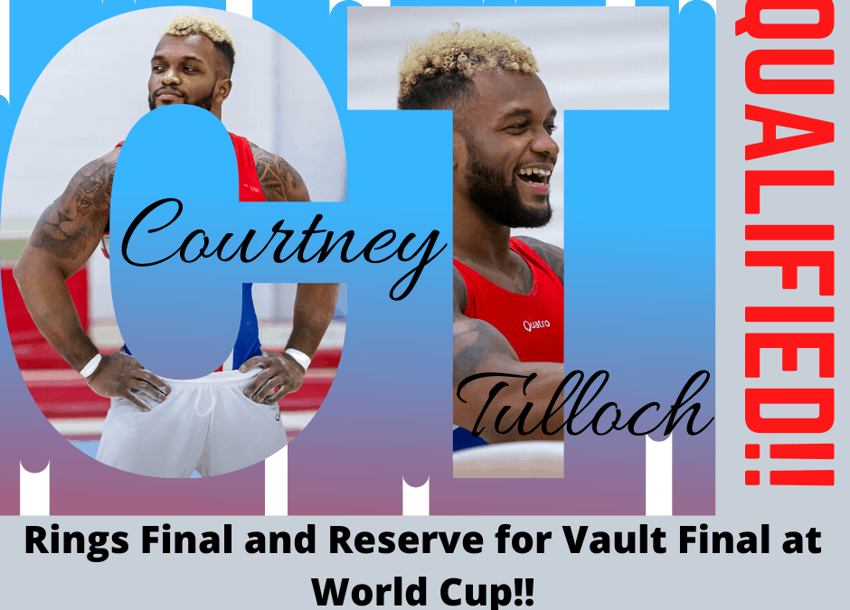 Courtney qualifies for World Cup Finals!!